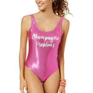 California Waves Metallic One Piece Swimsuit
